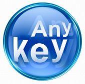 Any Key Icon Blue