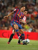 BARCELONA, SPAIN - AUG. 23: Futbol Club Barcelona's Swedish Zlatan Ibrahimovic during Supercup match