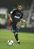 BARCELONA - SEPT. 12: Brazilian player Marcelo Vieira of Real Madrid in action during a Spanish League match against Espanyol at the Estadi Cornella-El Prat on September 12, 2009 in Barcelona, Spain