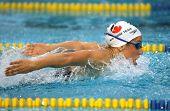 BARCELONA, SPAIN - JUNE. 10: Australian Olympic champion Felicity Galvez swims Butterfly during the