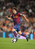 BARCELONA â?? SEPTEMBER 19: Argentinean player Leo Messi of FC Barcelona during Spanish league match