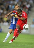 BARCELONA - AUGUST 2: Glen Johnson of Liverpool FC in action during a friendly match against RCD Espanyol at the Estadi Cornella-El Prat on August 2, 2009 in Barcelona, Spain.