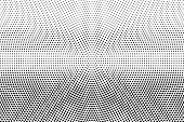 Black Dots On White Background. Light Perforated Surface. Faded Halftone Vector Texture. Horizontal  poster