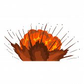 Power Explosion Icon. Cartoon Illustration Of Power Explosion Icon For Web poster