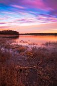 Pastel Sunrise At Lake Jacomo In Blue Springs, Missouri
