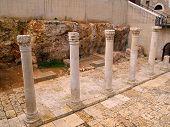 stock photo of cardo  - Ruins and details of Roman street Cardo Jerusalem Israel - JPG