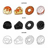 Vector Design Of Confectionery And Culinary Sign. Set Of Confectionery And Product Stock Vector Illu poster