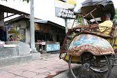picture of rickshaw  - YOGYAKARTA - JPG