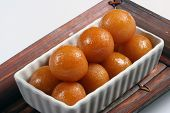 stock photo of gulab  - indian dessert gulab jamun at Diwali festival - JPG