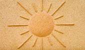Sunshine in stone on a wall