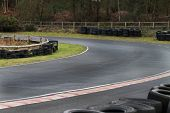 Motor Racing Track Corner With Tyre Wall