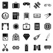 Adult Games Icons Set. Simple Set Of 25 Adult Games Icons For Web Isolated On White Background poster