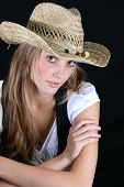 Model With Hat