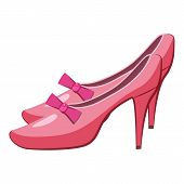 Princess Shoes Icon. Cartoon Illustration Of Princess Shoes Icon For Web poster