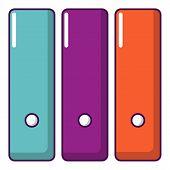 Office Folder Icon. Cartoon Illustration Of Office Folder Icon For Web Design poster