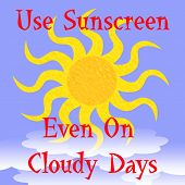 use sunscreen poster