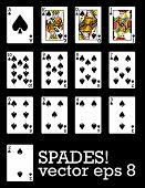 Spades! Very elaborate and detailed set of cards!