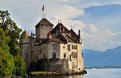 Chateau De Chillon (castle Of Chillon), On Lake Geneve, Montreux, Switzerland