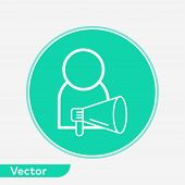 Announcement Icon Vector, Filled Flat Sign, Solid Pictogram Isolated On White. Symbol, Logo Illustra poster