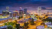Tulsa, Oklahoma, USA downtown city skyline at twilight. poster