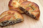 Burek (pie with meat, cheese or spinach) is traditional Balkanian meal