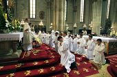 ZAGREB, CROATIA - JUNE 18: Rite of Ordination to the Priesthood in Zagreb Cathedral on June 18, 2011