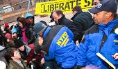 NYPD Community Affairs Officers Arrest Sit-Down Protestors