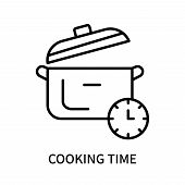 Cooking Time Icon Isolated On White Background. Cooking Time Icon Simple Sign. Cooking Time Icon Tre poster