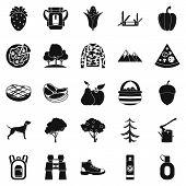 Wildlife Icons Set. Simple Set Of 25 Wildlife Icons For Web Isolated On White Background poster