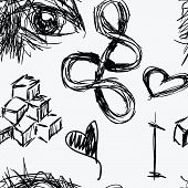 Seamless Artistic Sketch Pattern
