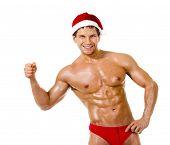 Homem sexy Santa Claus