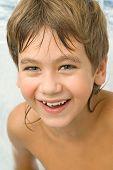 Got Wet Smiling Boy