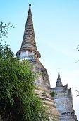 Pagoda of Ayuthaya temple