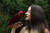 Young Girl & Parrot