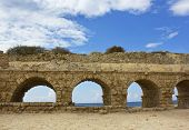 Stone Arches Of Ancient Roman Aqueduct