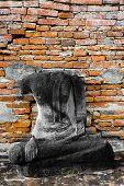 Monuments Of Damaged Buddha Thailand