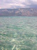 foto of cleopatra  - Clear water in Cleopatra island in Turkey - JPG