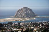 Morro Rock in Morro Bay Harbor, California