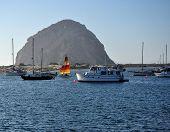 A Colorful Sail Near Morrow Rock, California