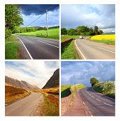 Beautiful Collage Of Rural empty Roads