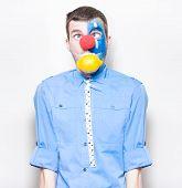 Sour Lemon Clown With Acid Reflux Dyspepsia