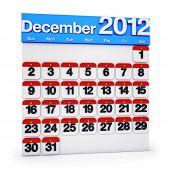 Calendar Decemder 2012
