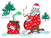 Santa Claus And The Snake.
