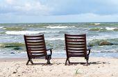 Pair Chairs At The Beach