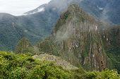 Aerial View Over Machu Picchu