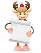 Funny deer with a border for text