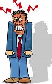 Angry Man Or Businessman
