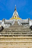 Staircase To Top Of Ancient White Pagoda