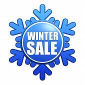 Winter Sale Snowflake Label