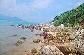 Beautiful spoondrift at south chinese city Hongkong